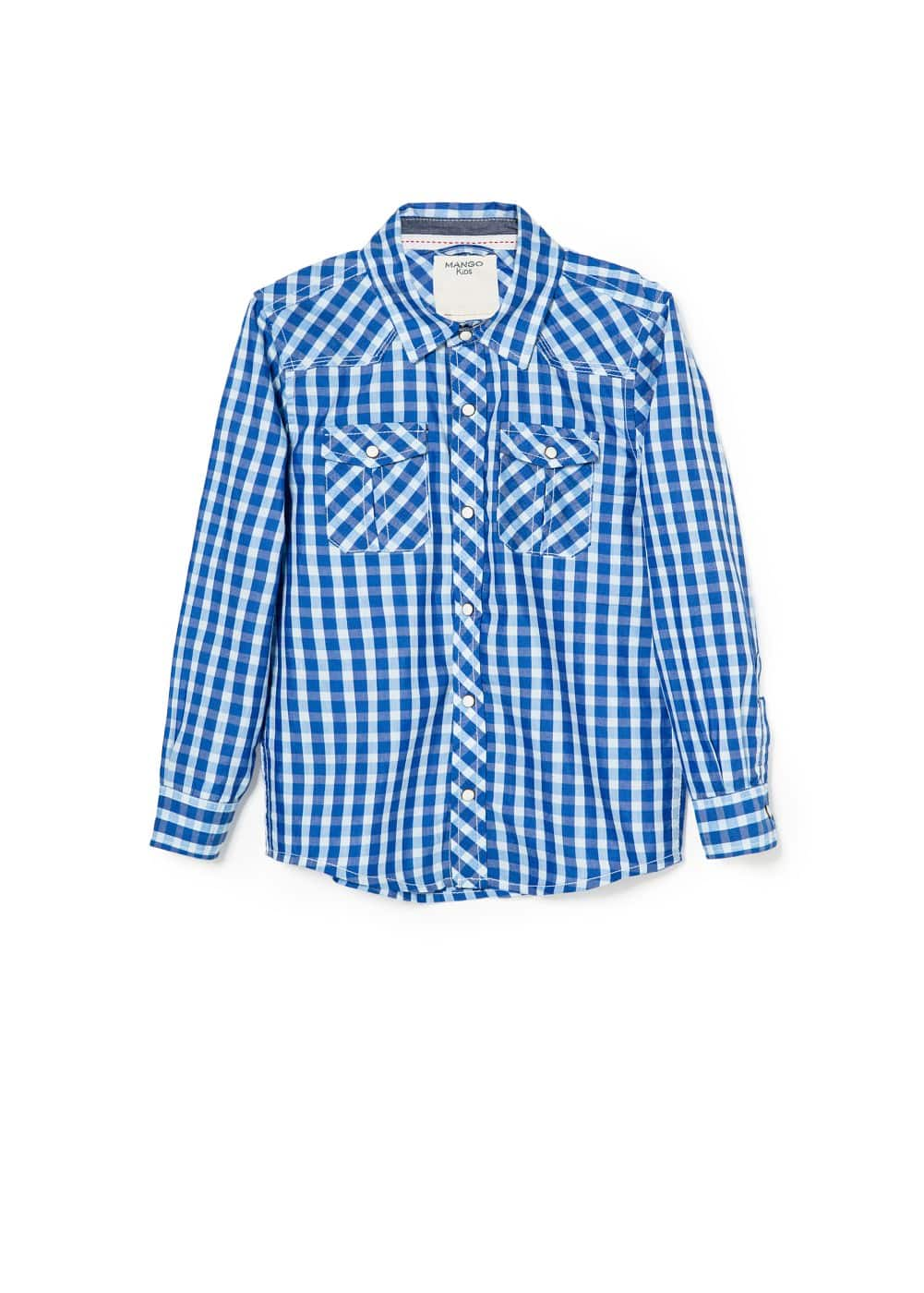 Check cotton-blend shirt | MANGO