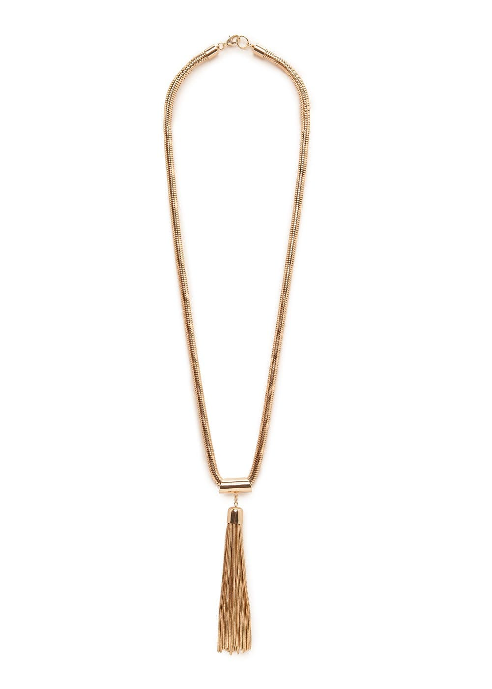 Tassel pendant necklace | MANGO