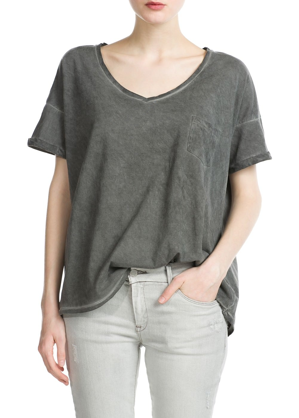 Distressed t-shirt | MANGO