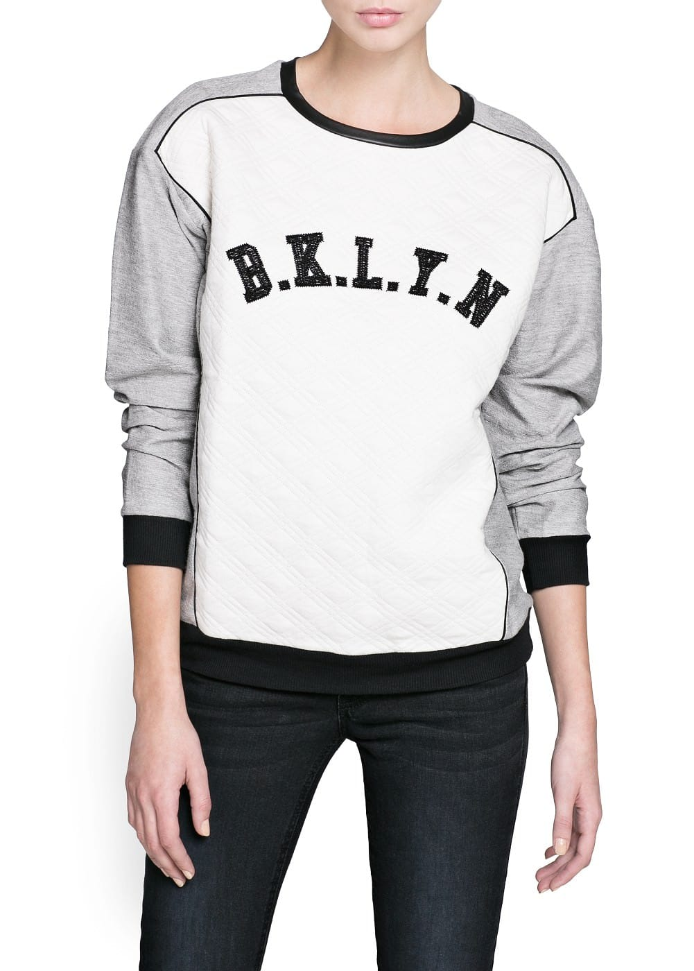 Brooklyn quilted sweatshirt | MANGO