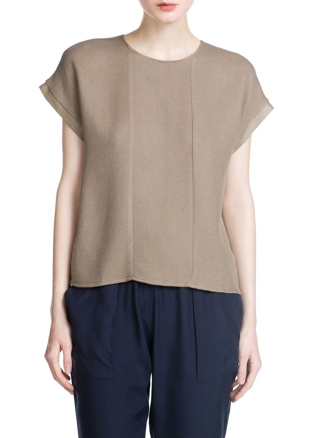Textured knit blouse | MANGO