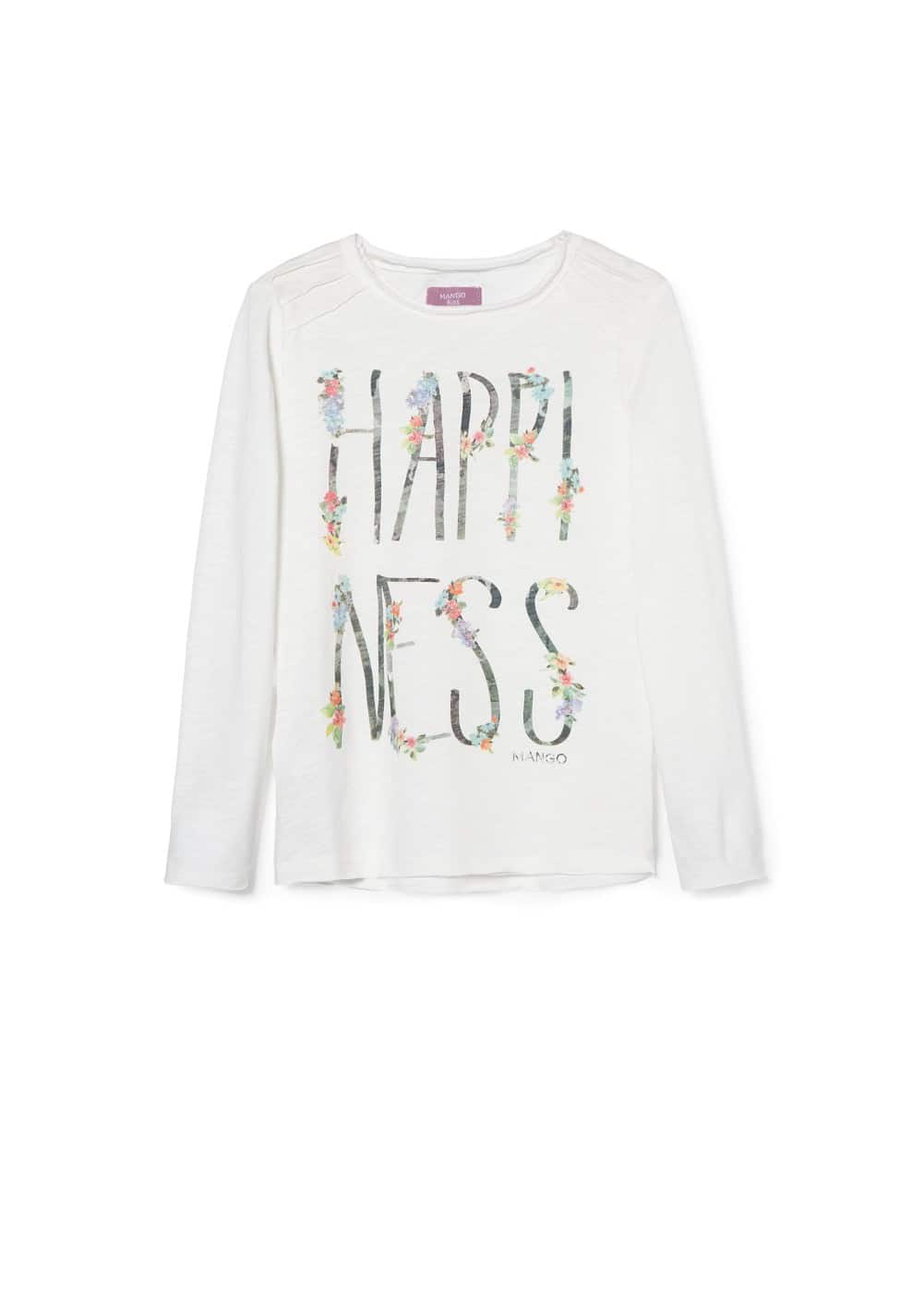 Glitter text t-shirt | MANGO