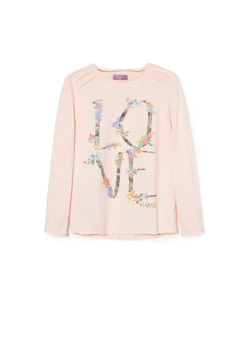 Glitter text t-shirt | MANGO KIDS