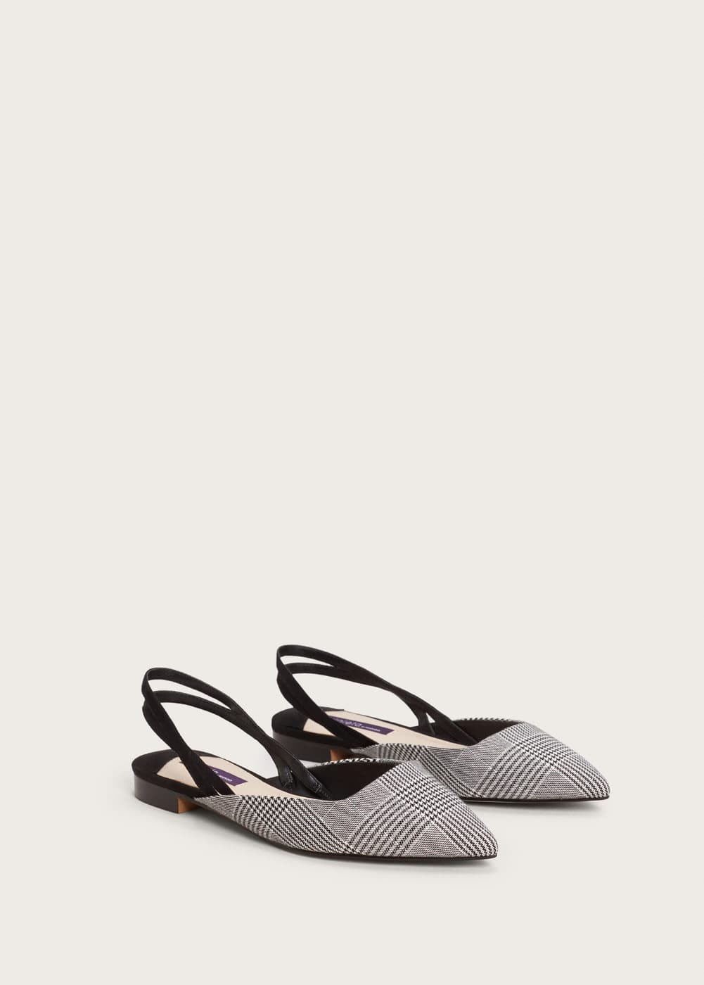 Slingback check shoes | VIOLETA BY MANGO