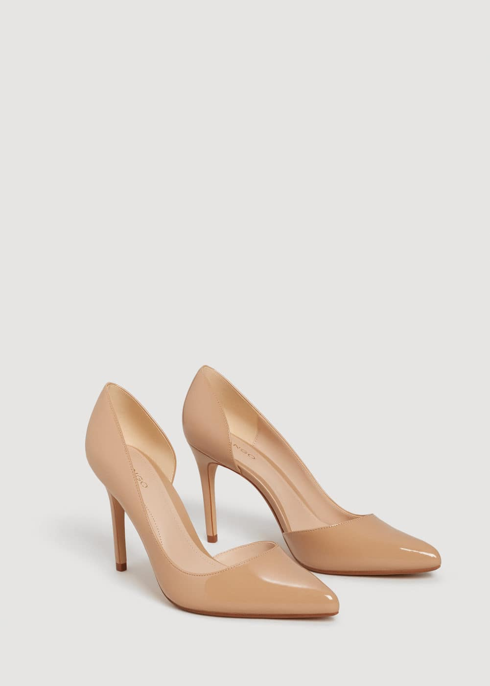 Patent leather heel shoes | MANGO