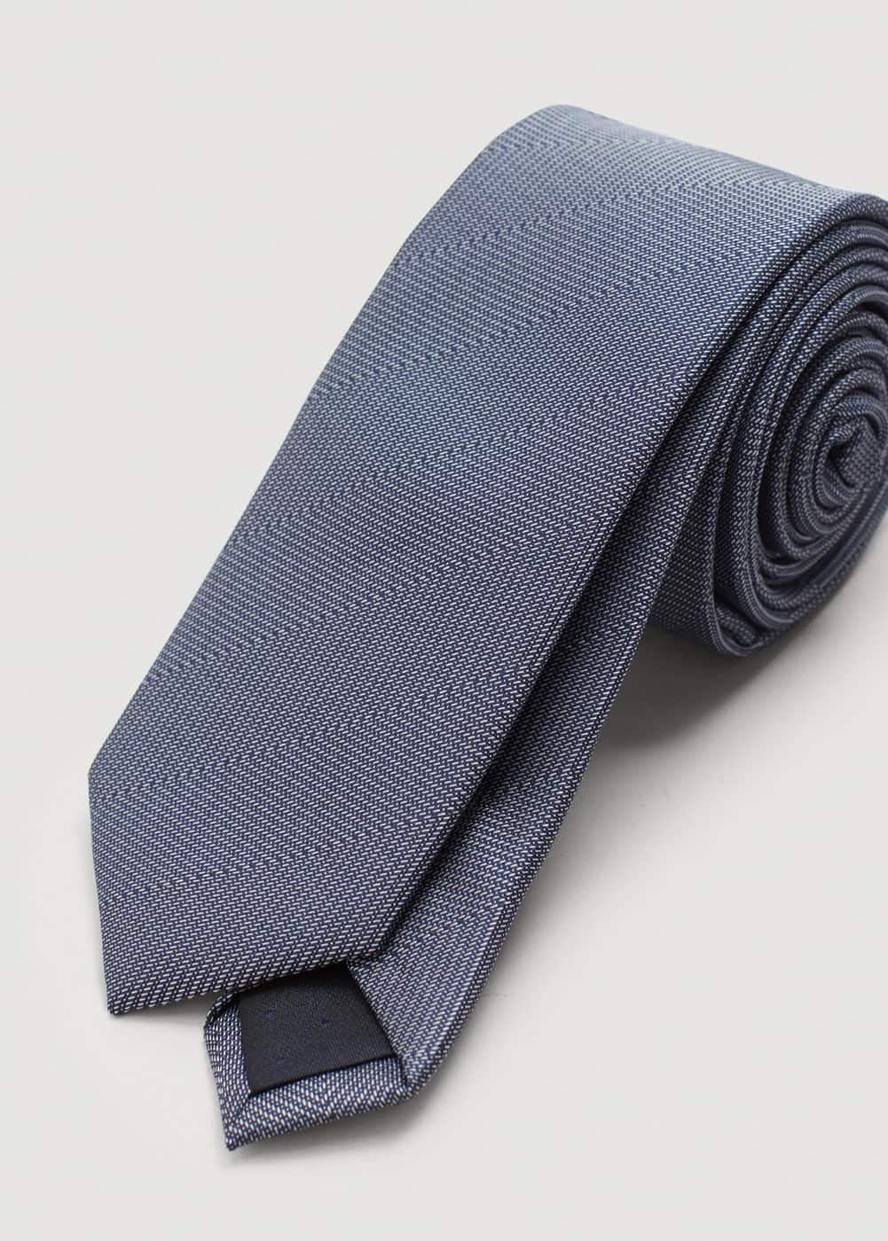 Narrow structured tie | MANGO MAN