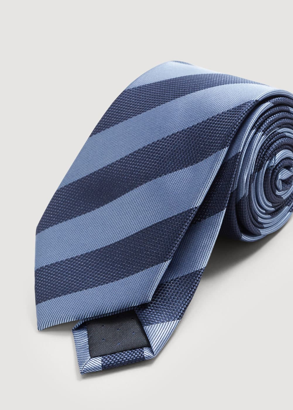 Striped satin tie | MANGO MAN