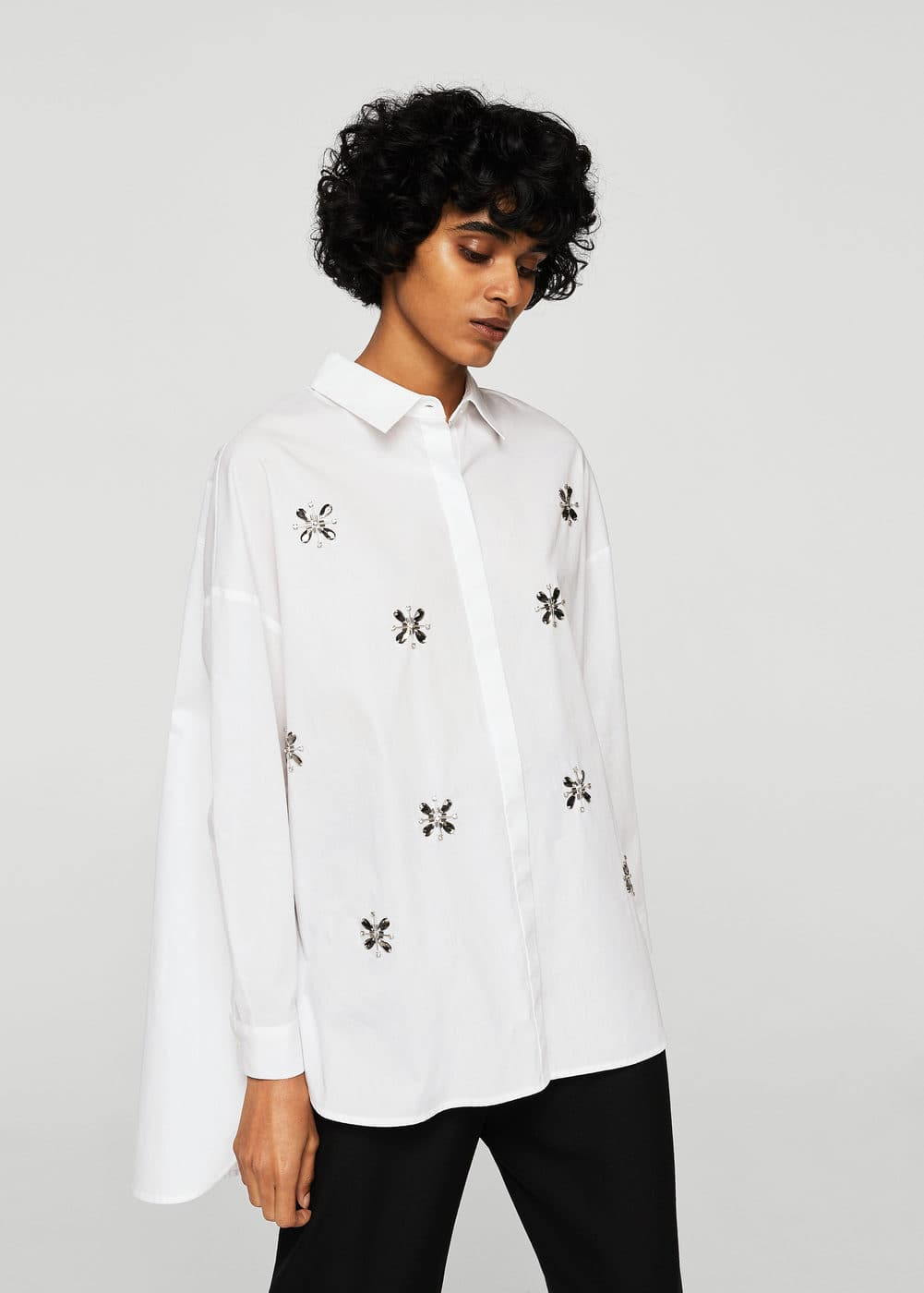 Beaded shirt | MANGO