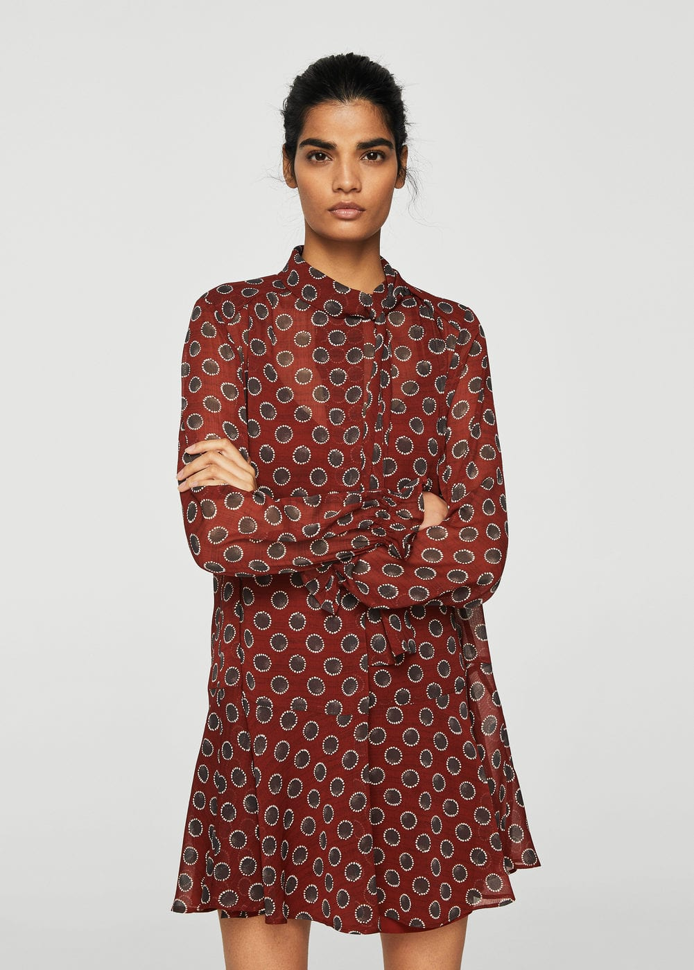 Printed bow dress | MANGO