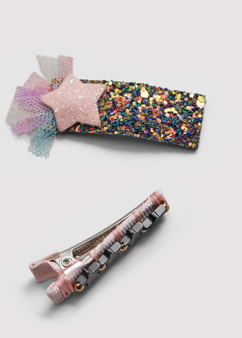 2 pack star hairclips | MANGO