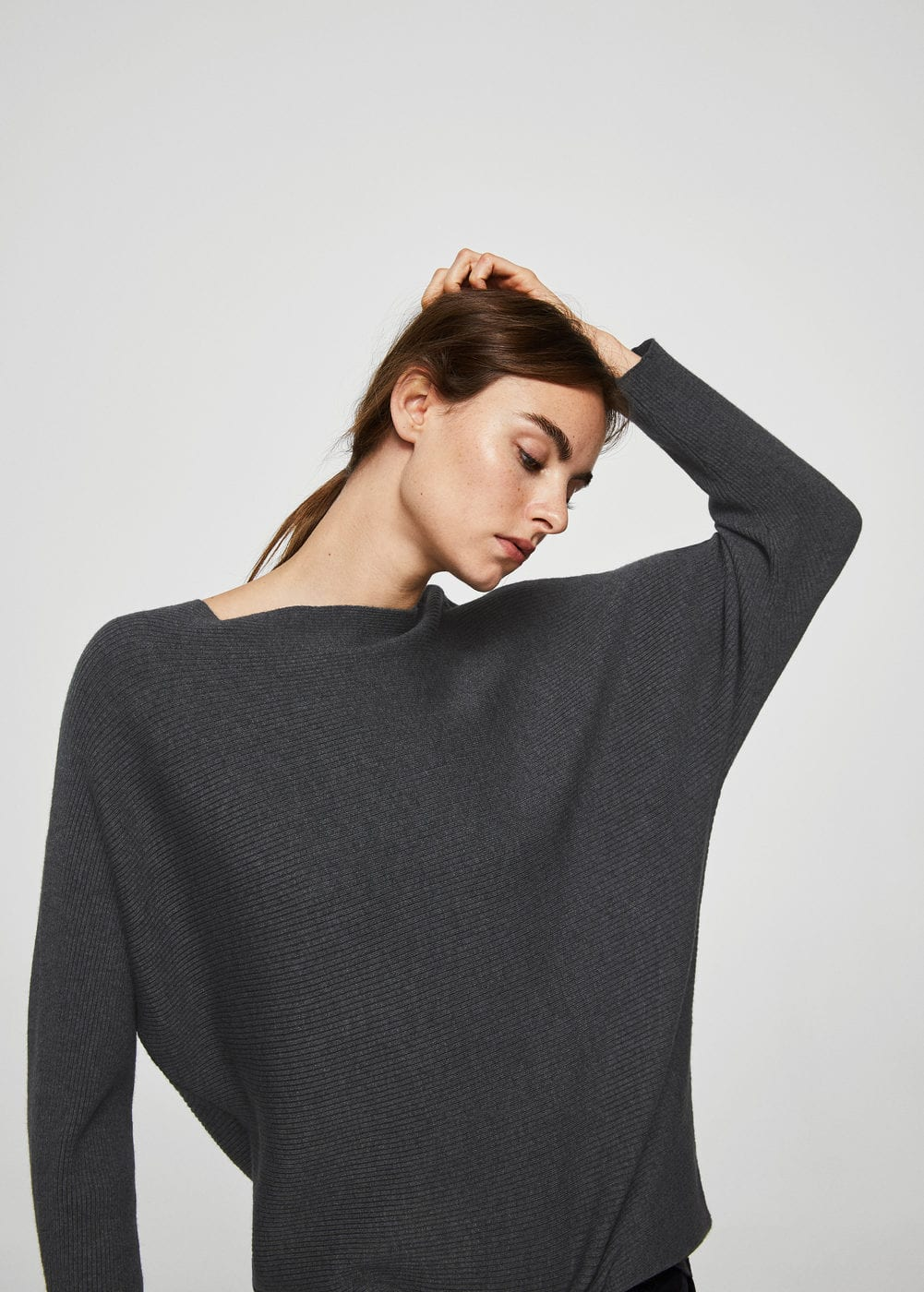 Fine-knit oversize sweater | MANGO