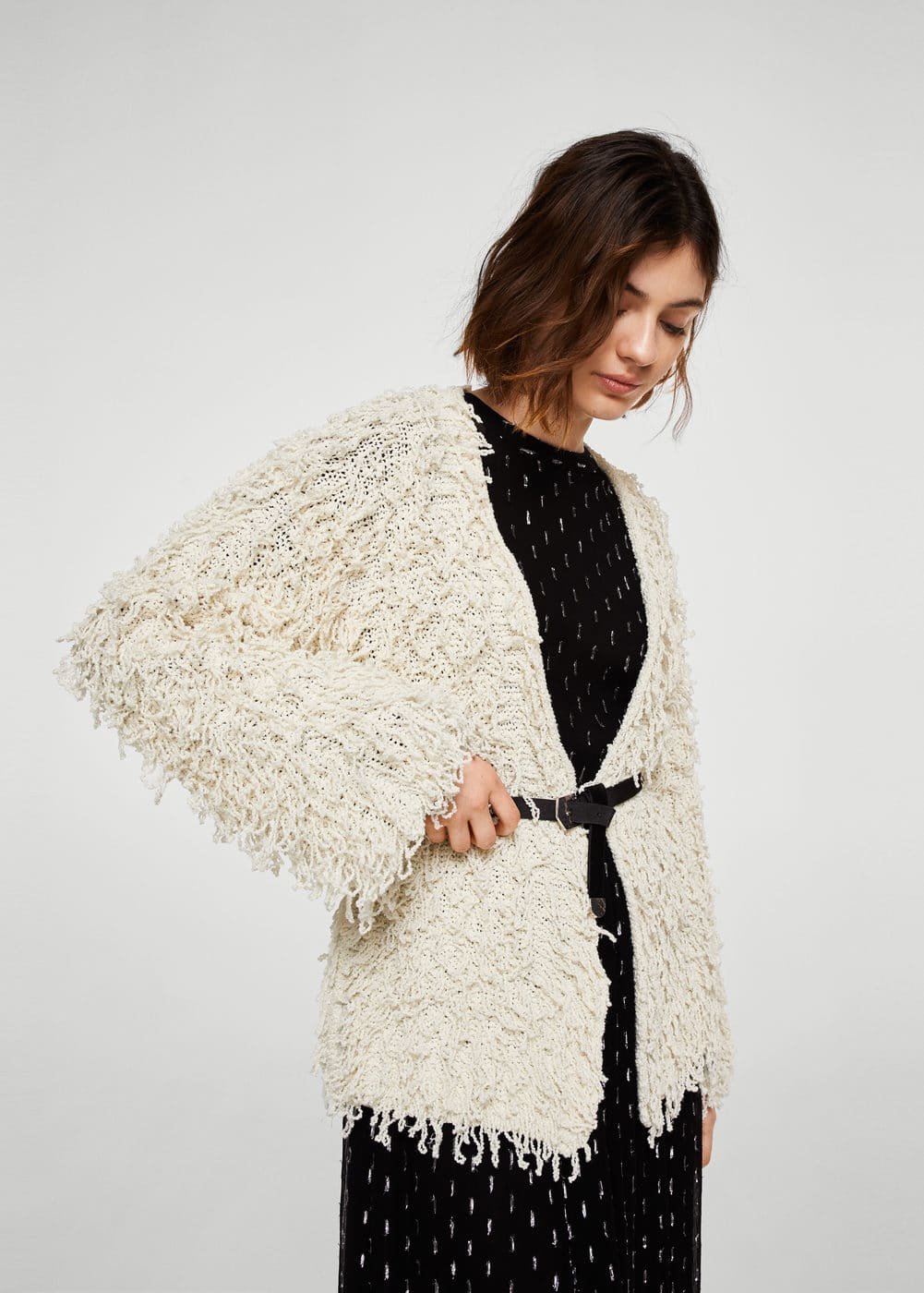 Fringed cardigan | MANGO