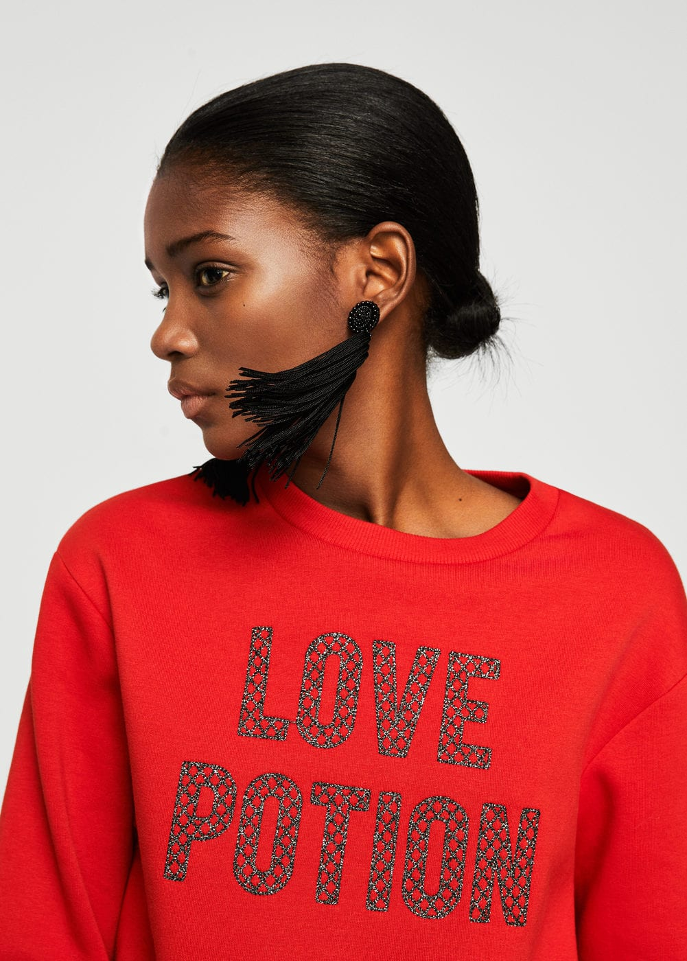 Appliqué message sweatshirt | MANGO