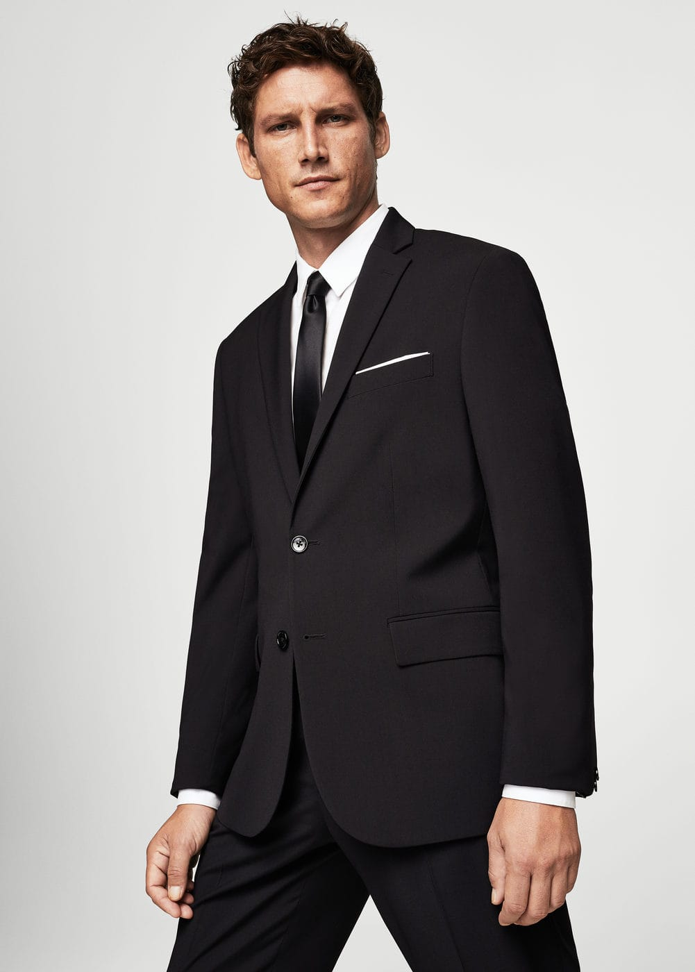 Slim-fit patterned suit blazer | MANGO MAN