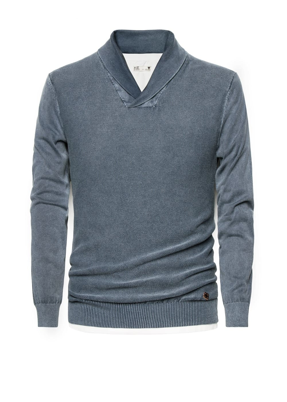 Shawl collar cotton sweater | MANGO
