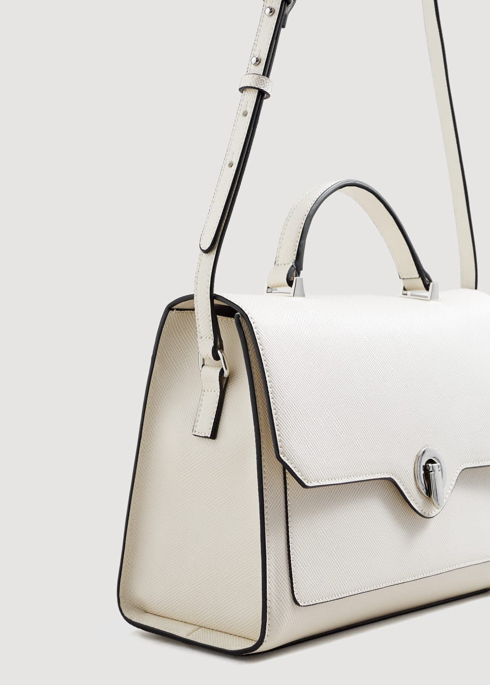 Saffiano-effect tote bag | MNG
