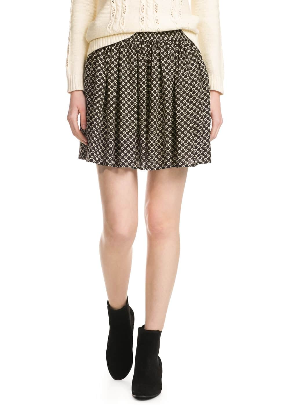 Printed flared skirt | MANGO