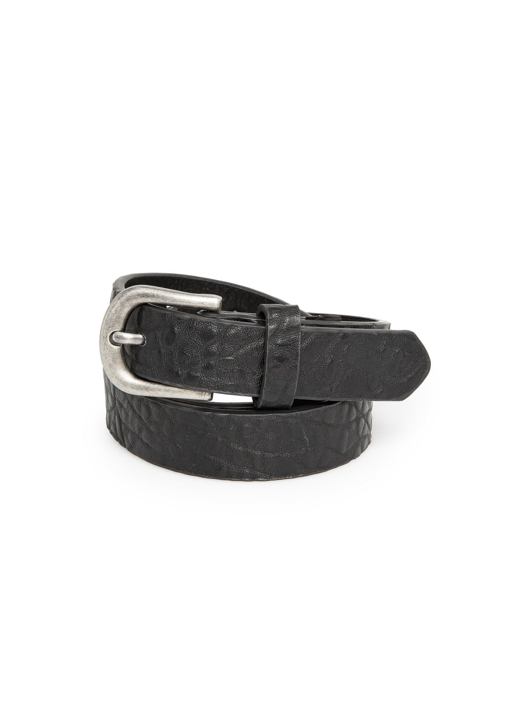 Textured pebbled belt | MANGO