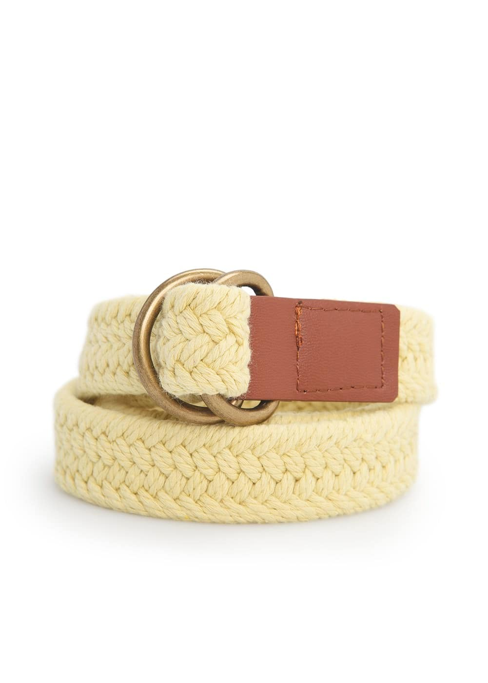 Braided cotton-blend belt | MANGO