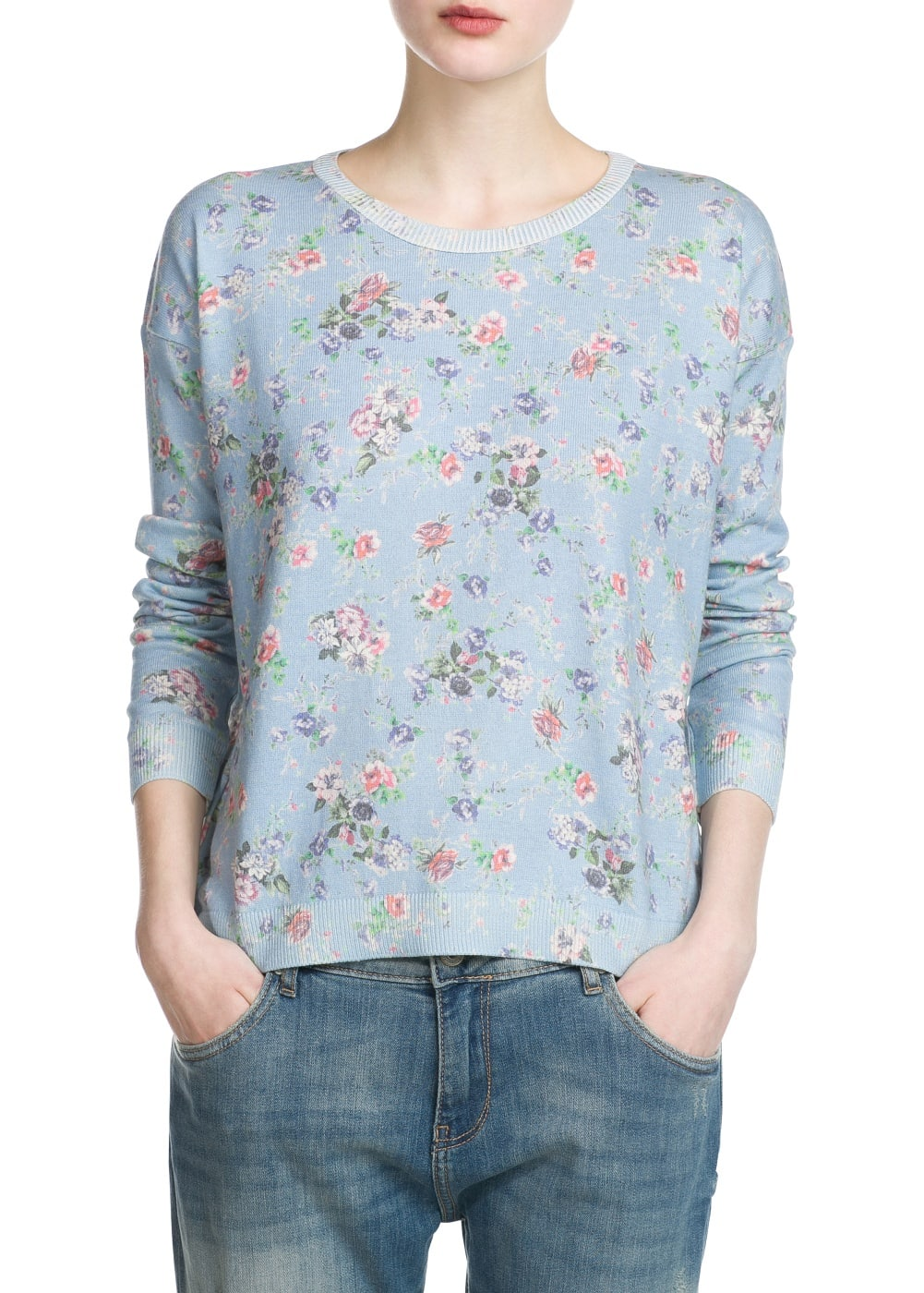 Floral print sweater | MANGO KIDS