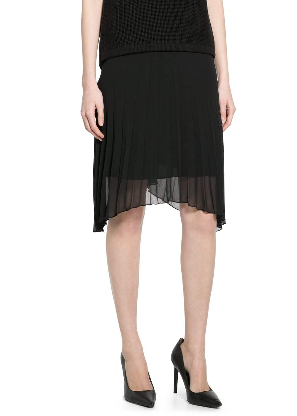 Pleated chiffon skirt | MANGO