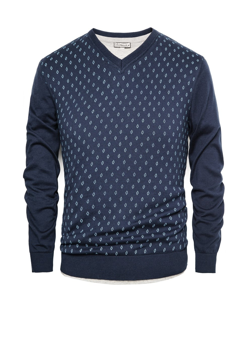 Rhombus cotton sweater | MANGO MAN