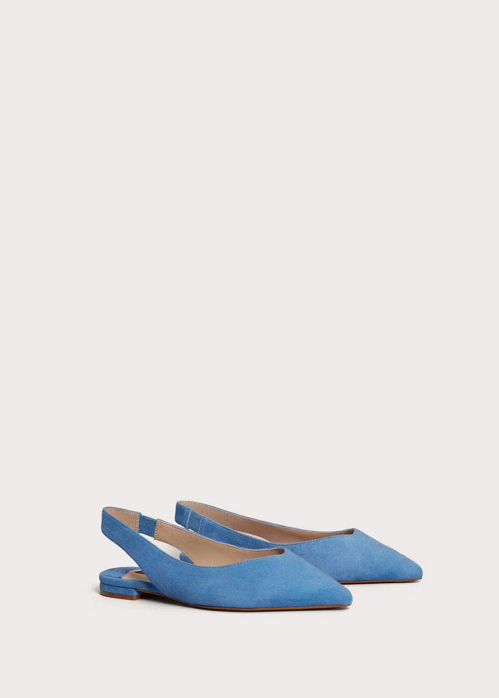 Suede slingback shoes | VIOLETA BY MANGO