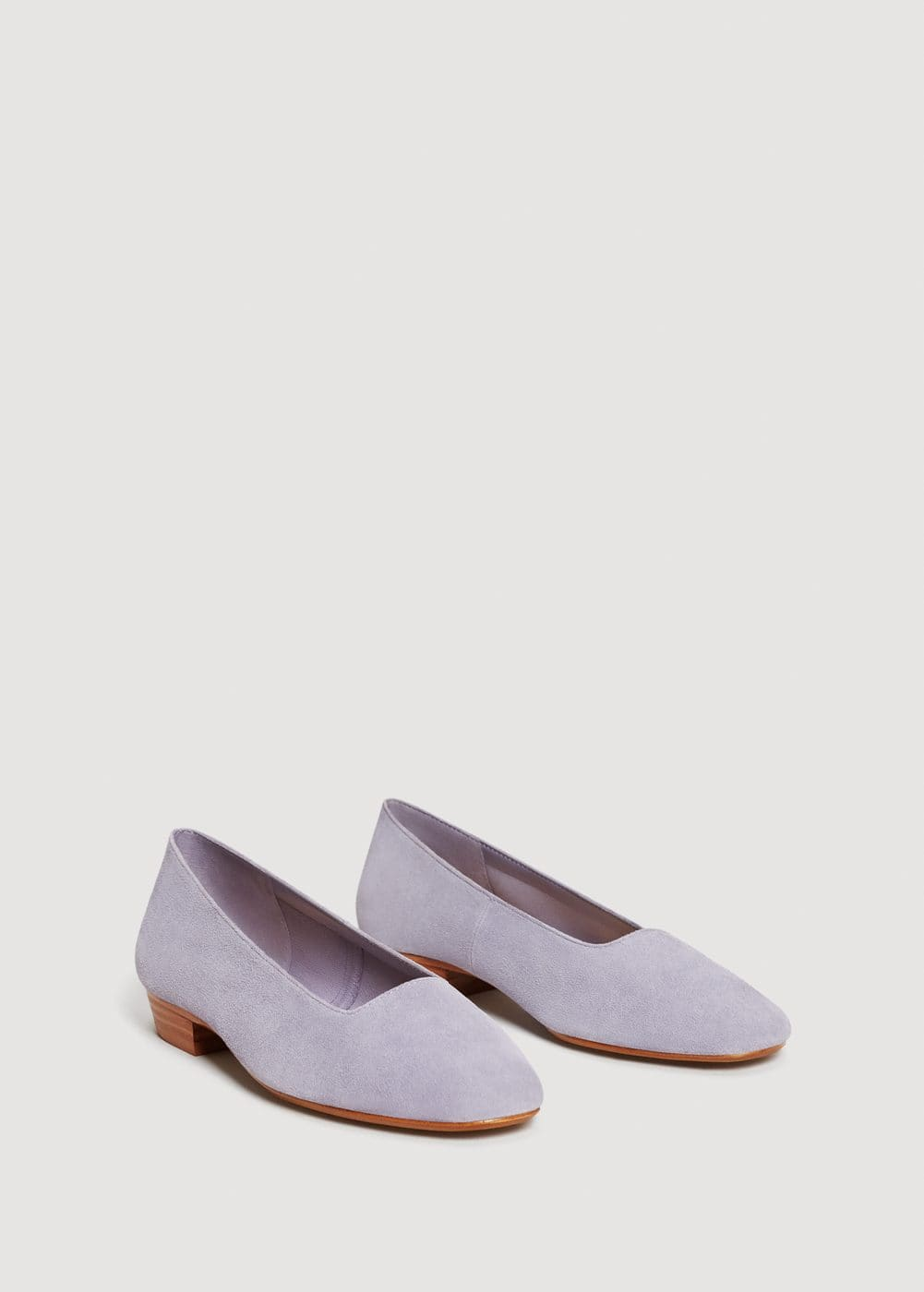 Leather flat shoes | MANGO