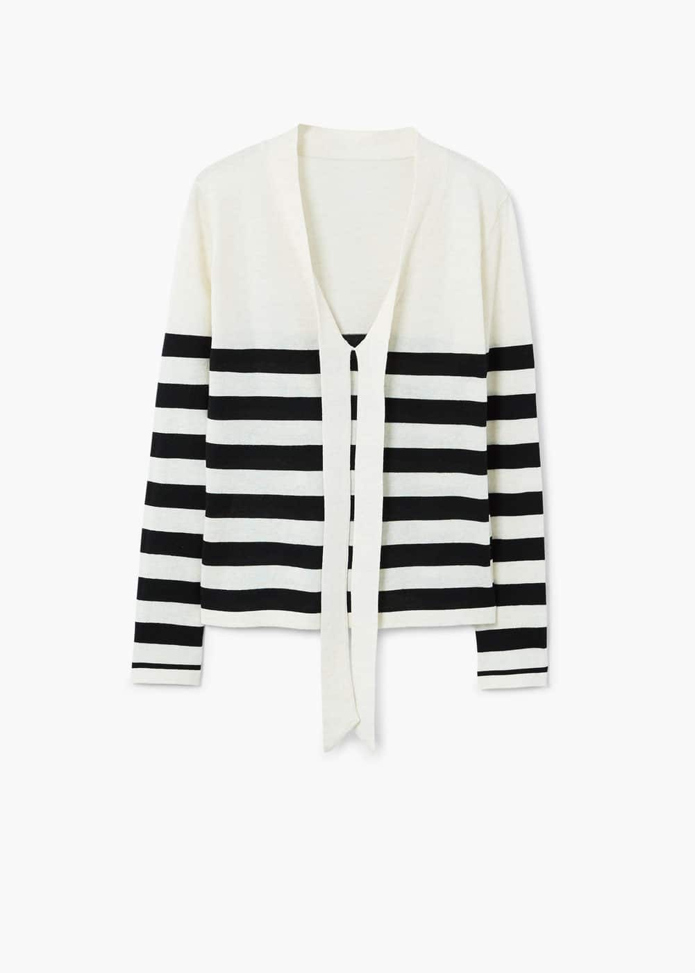 Bow striped sweater | MANGO