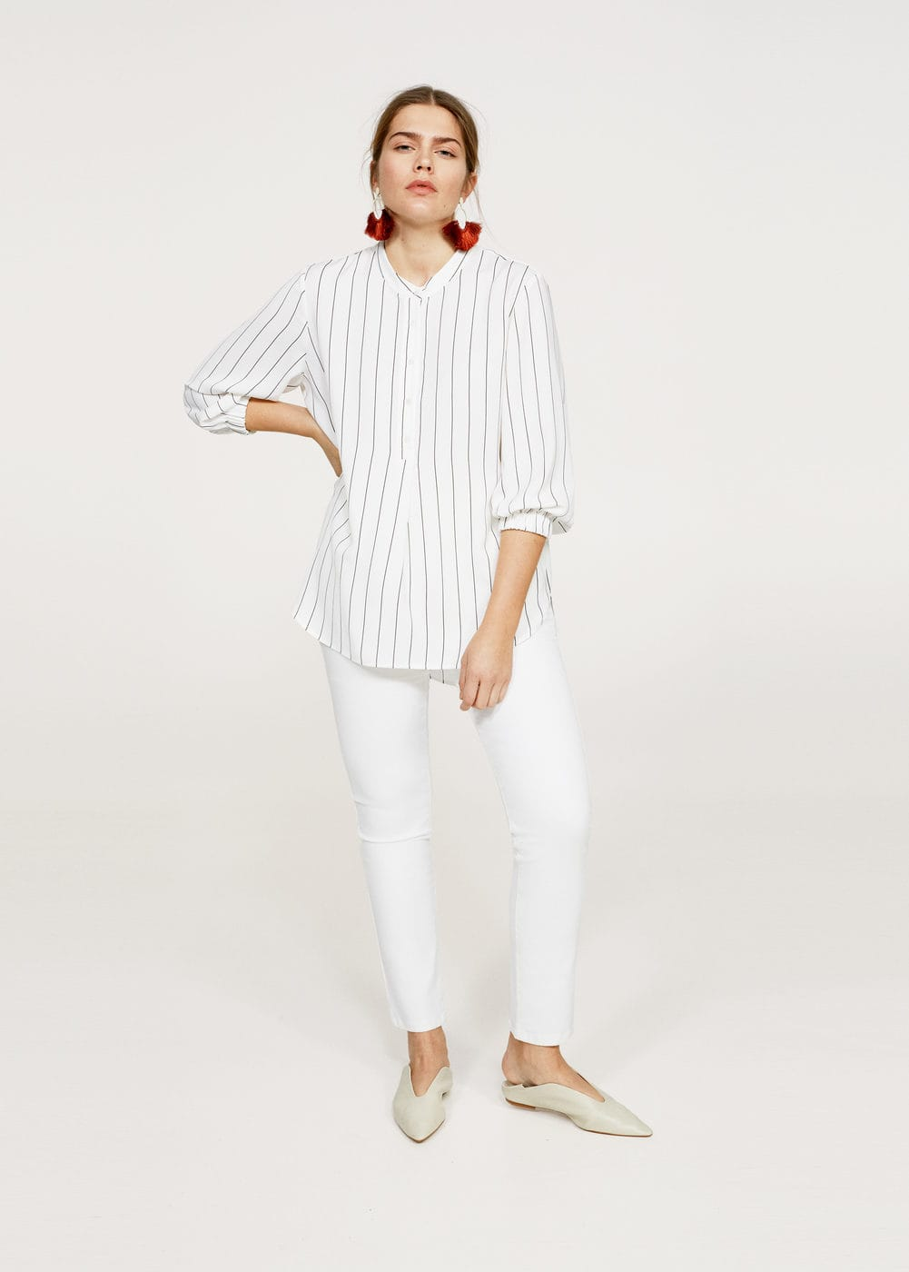 Flowy striped blouse | VIOLETA BY MANGO