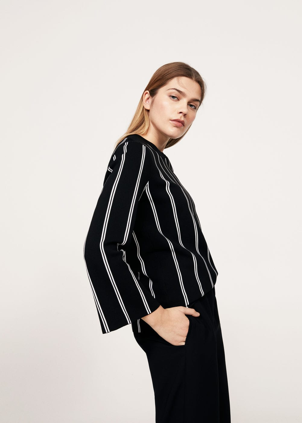 Stripe pattern sweater | VIOLETA BY MANGO