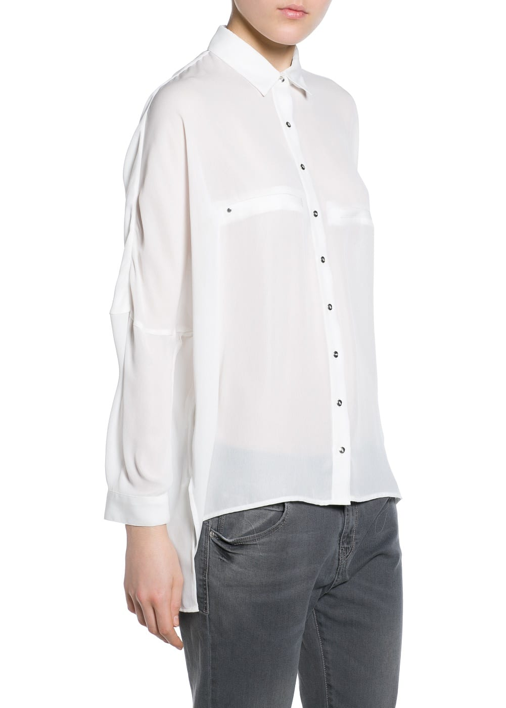 Camisa boxy fluida | MANGO