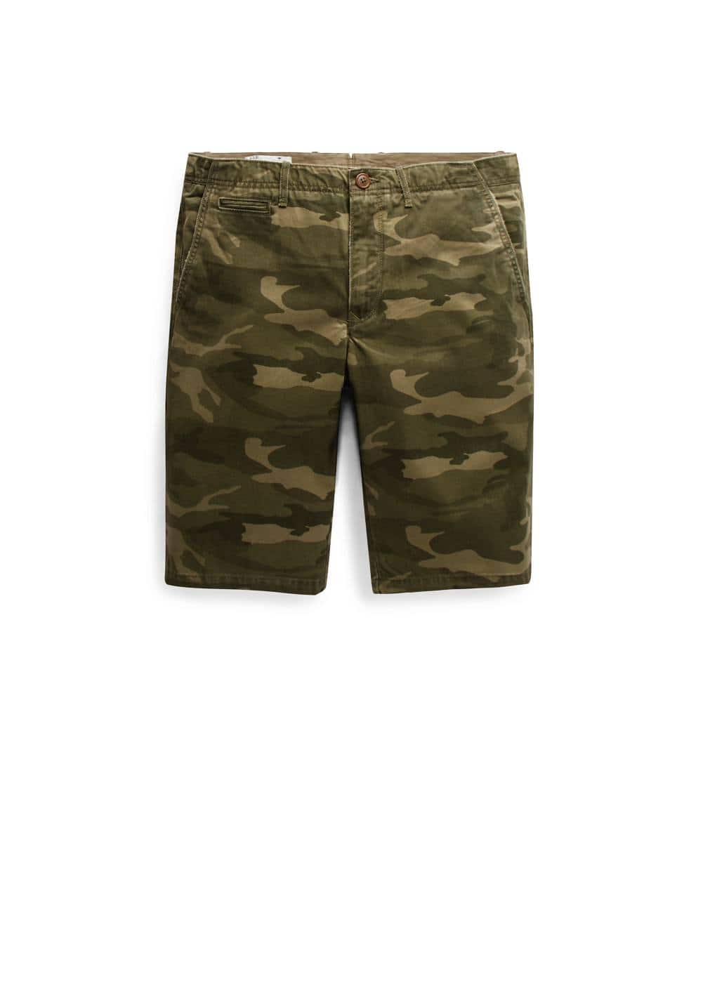 Camo-print cotton bermuda shorts | MANGO MAN