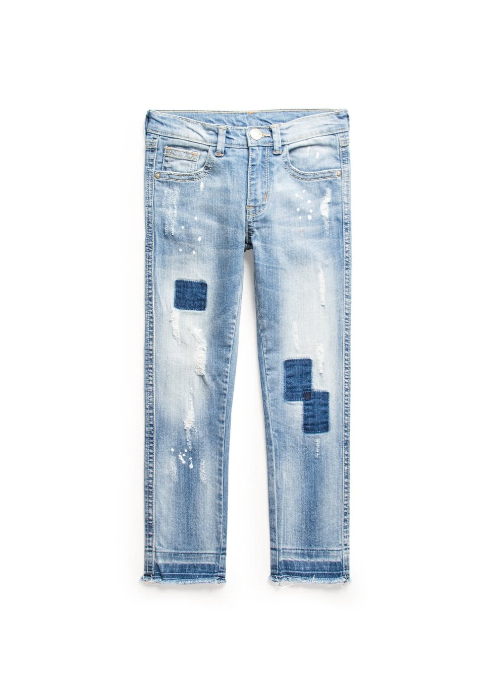 Slim-fit light wash jeans | MANGO KIDS