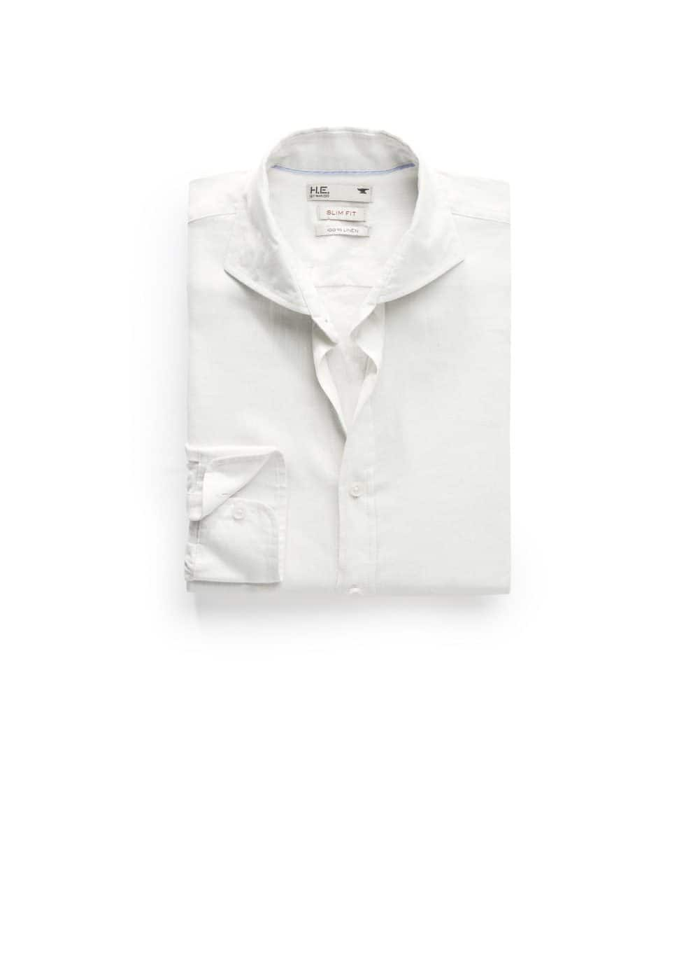 Camisa slim-fit lino | MANGO MAN