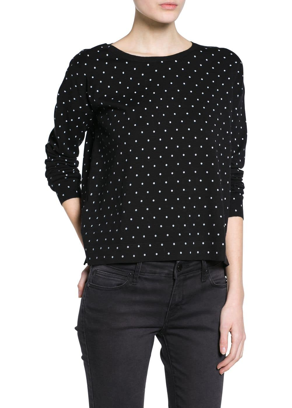 Polka-dot print sweater | MANGO