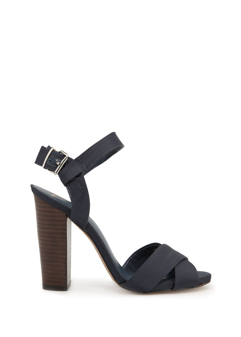 Grosgrain crisscross sandals | MANGO