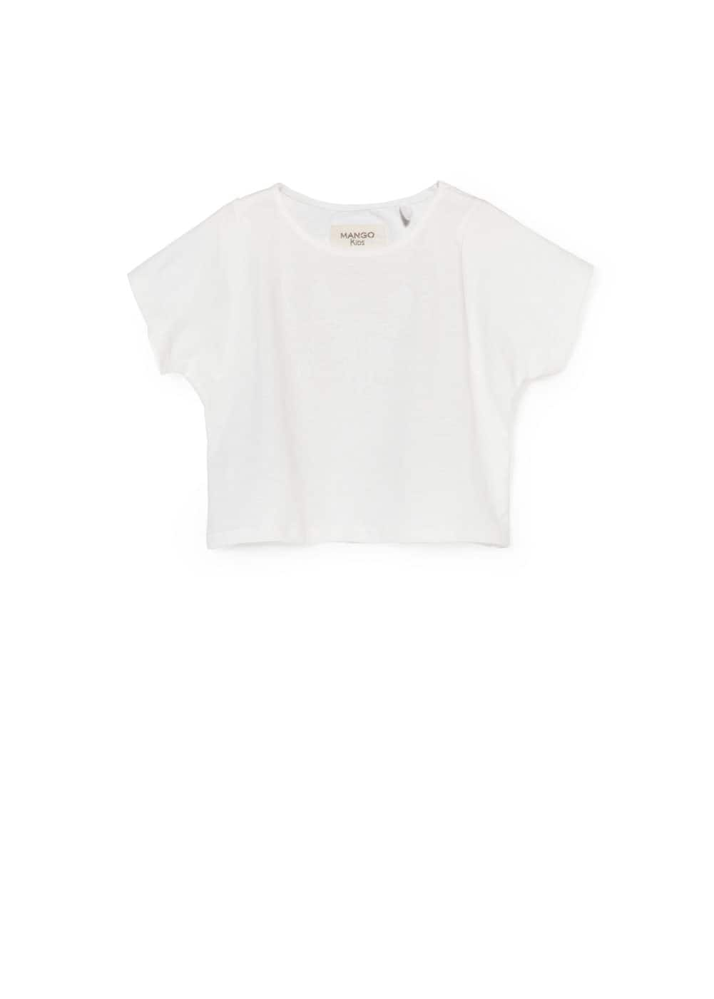 Butterfly cropped t-shirt | MANGO
