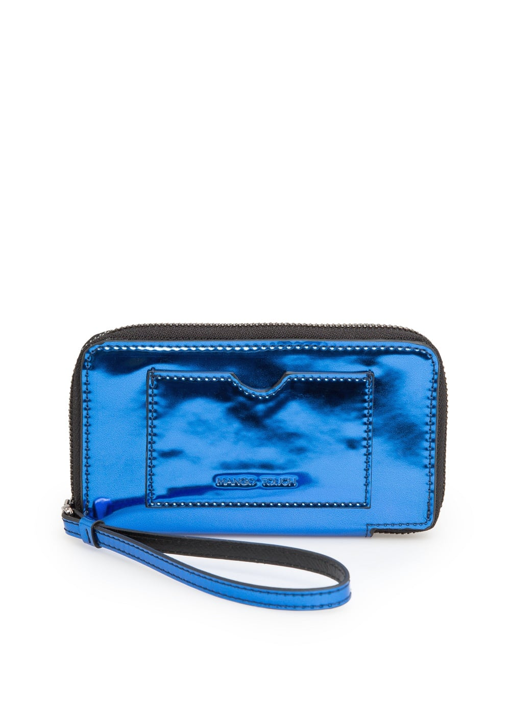 Mirror-effect wallet | MANGO