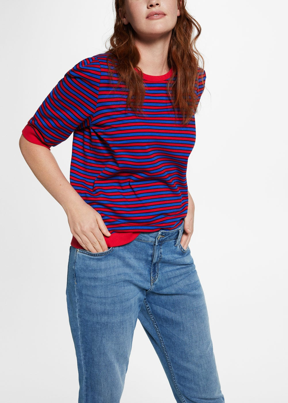 Comfy relaxed jeans | VIOLETA BY MANGO