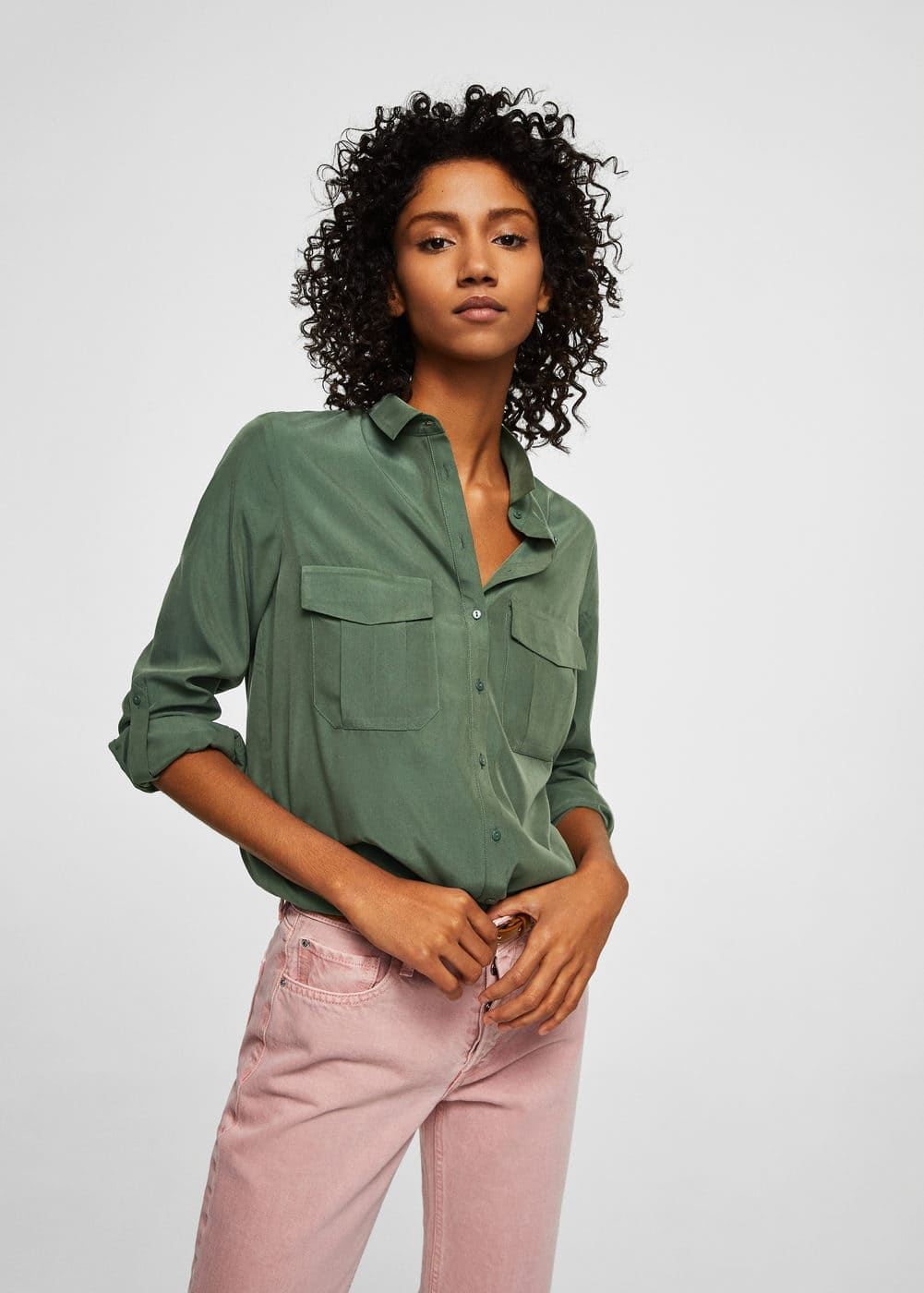 Flap pocketed shirt | MANGO