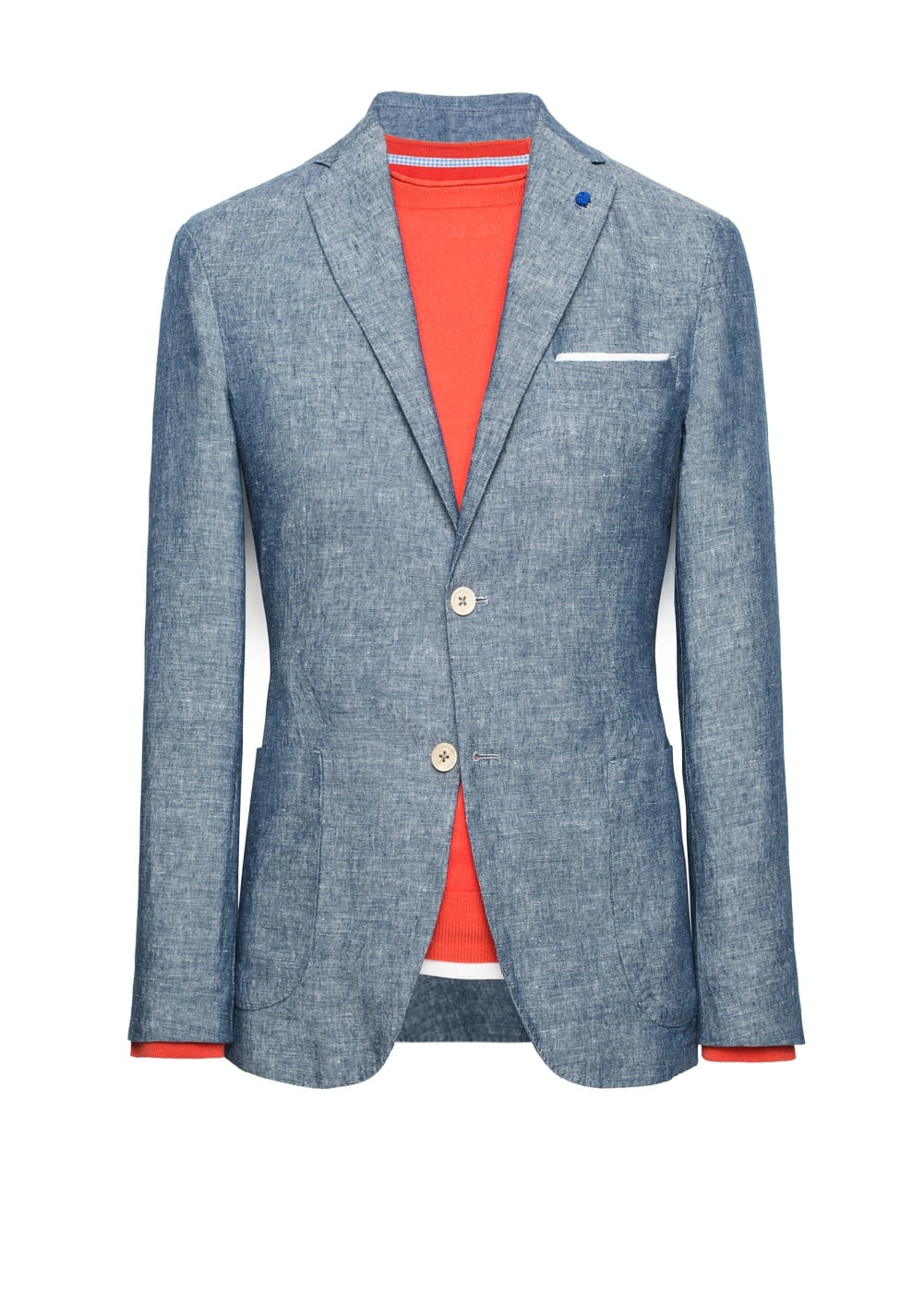 Unstructured cotton linen-blend blazer | MANGO