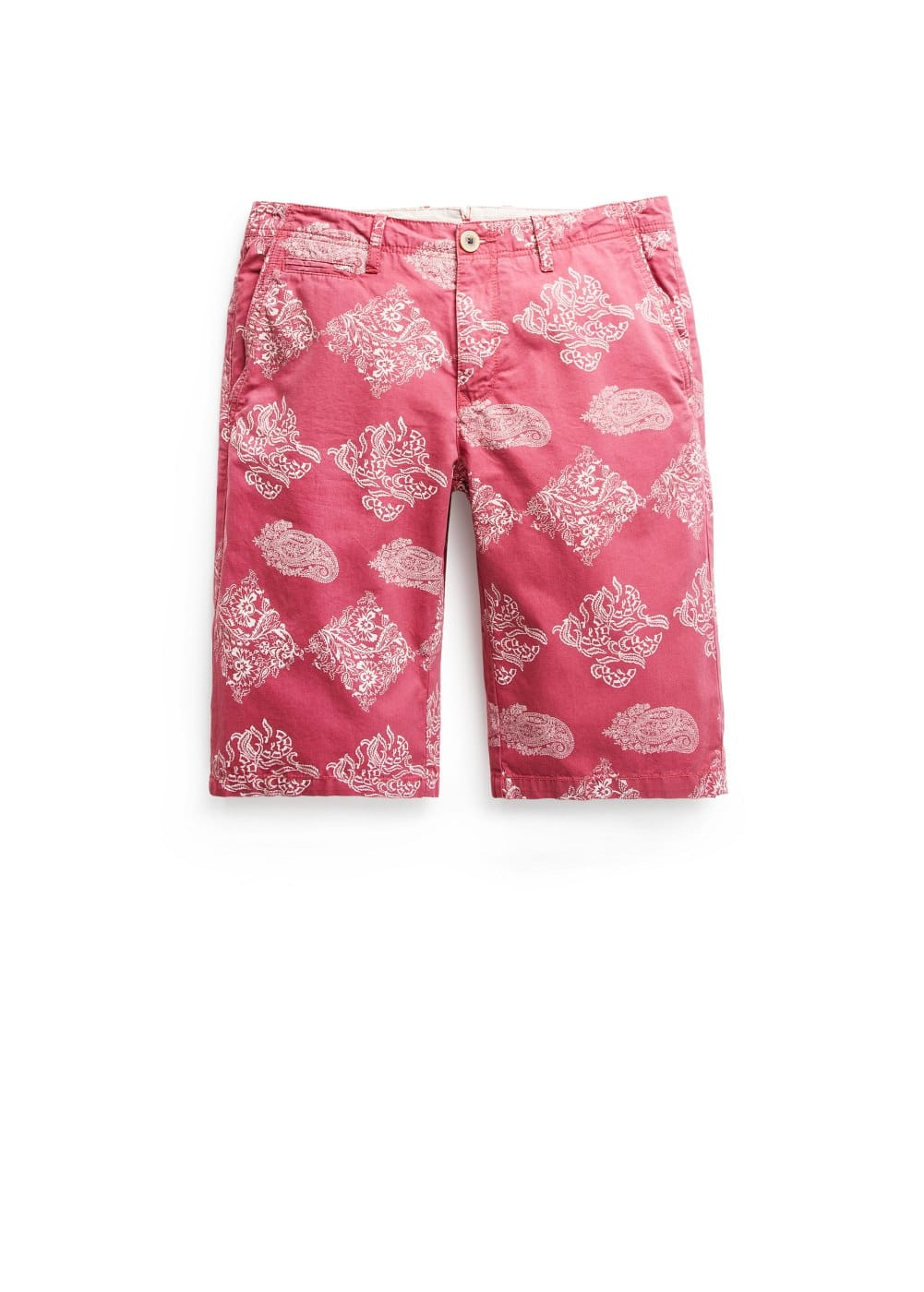 Paisley cotton bermuda shorts | MANGO MAN
