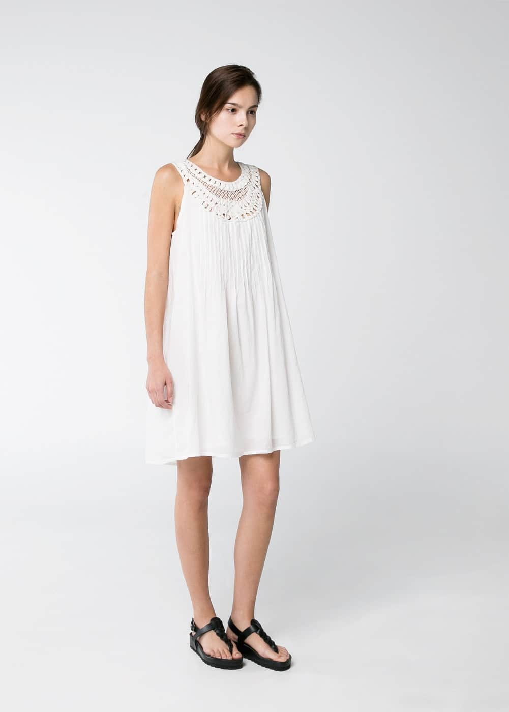 Embroidered cord dress | MANGO