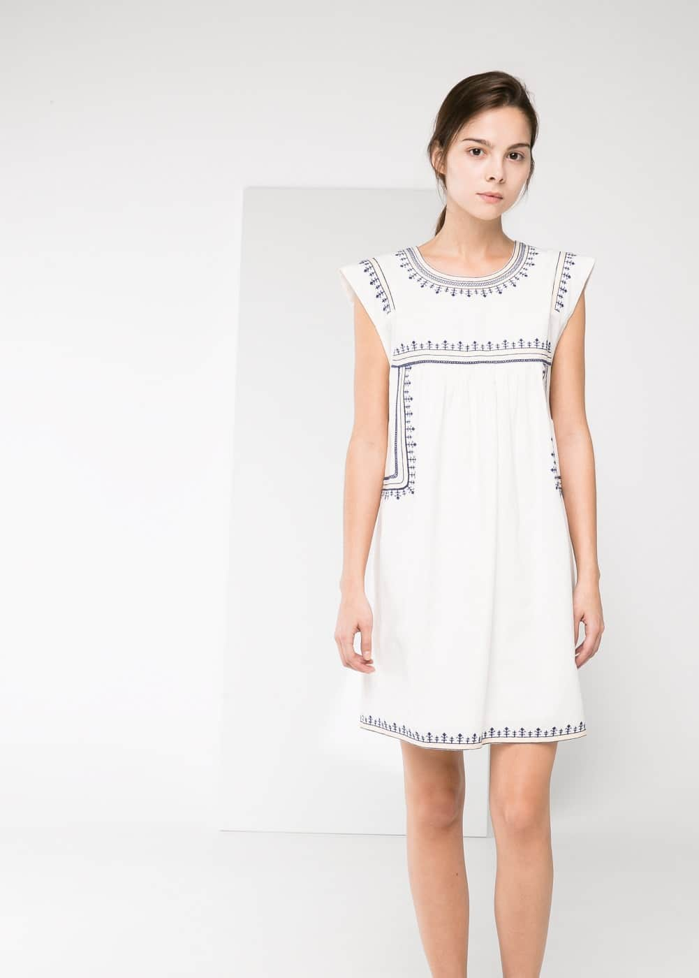 Ethnic embroidery dress | MANGO