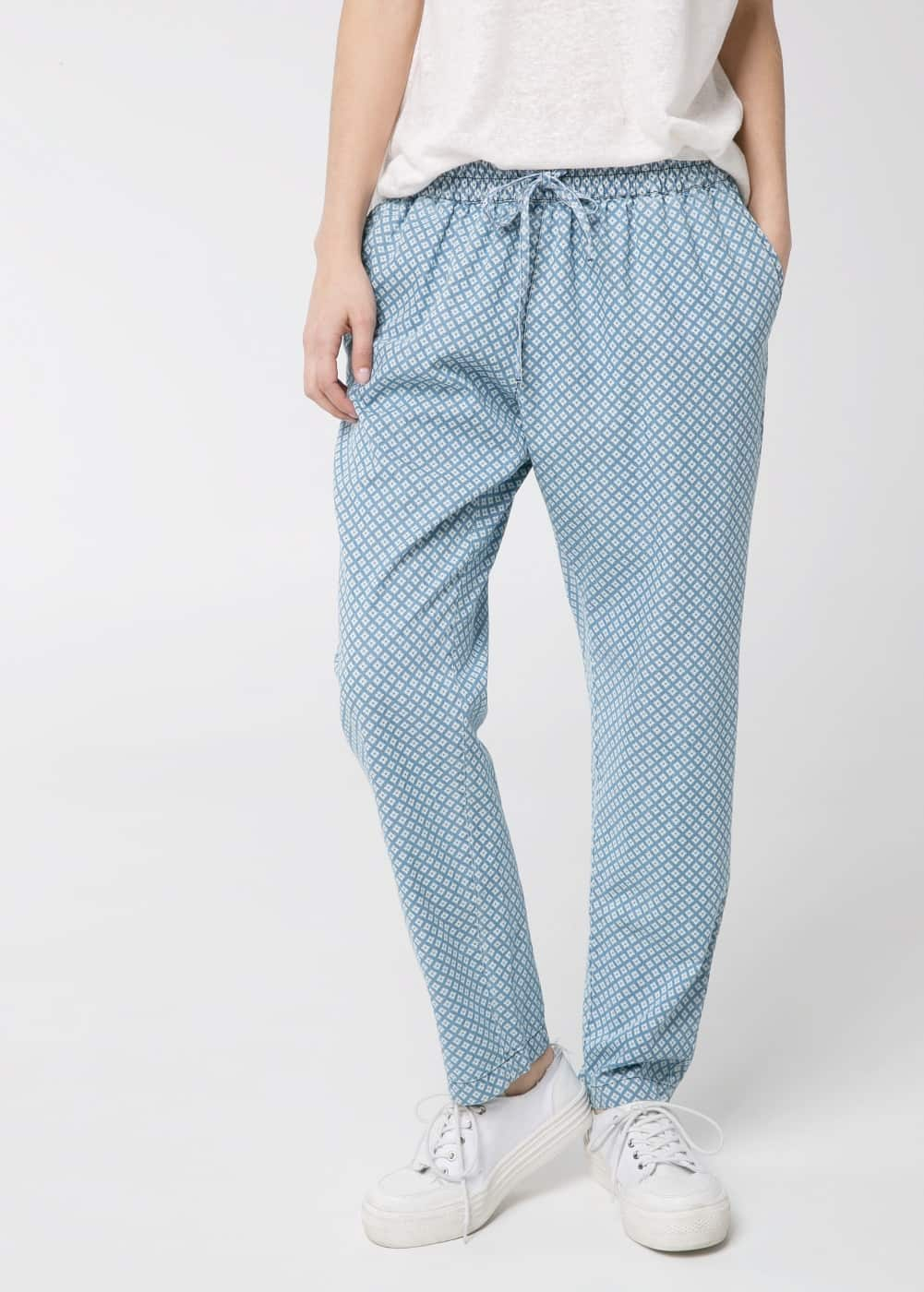 Denim baggy trousers | MANGO