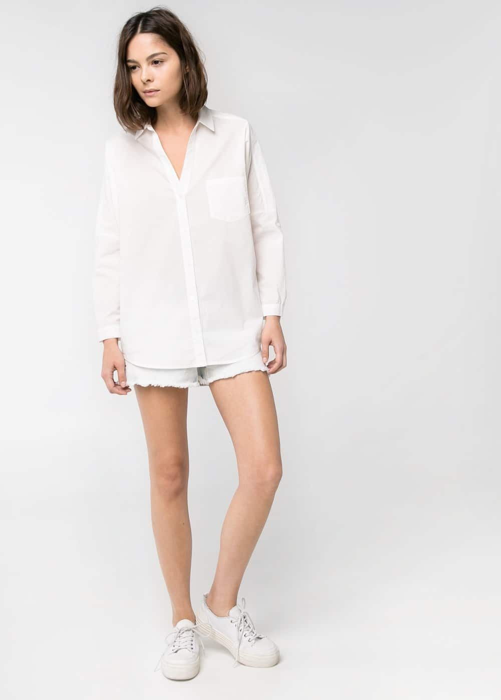 Cotton oversize shirt | MANGO