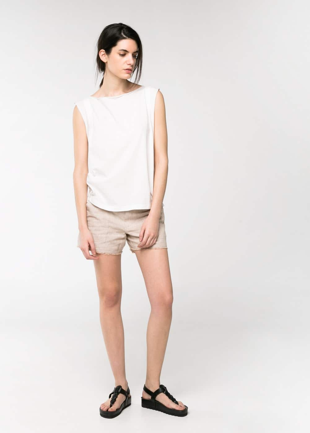 Raw-edge top | MANGO
