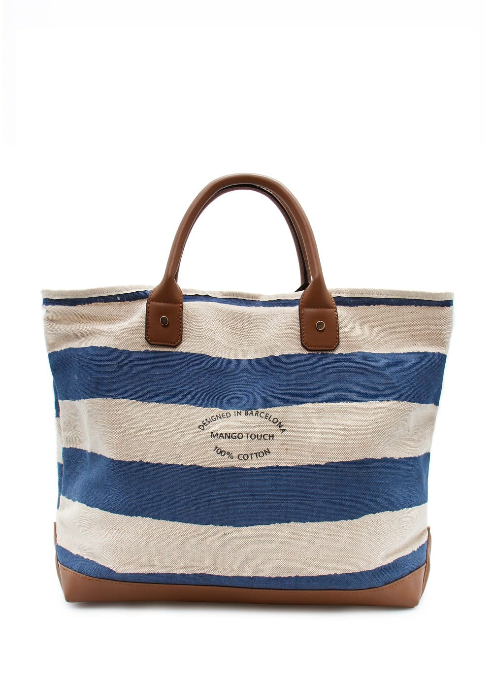 Striped shopper bag | MANGO