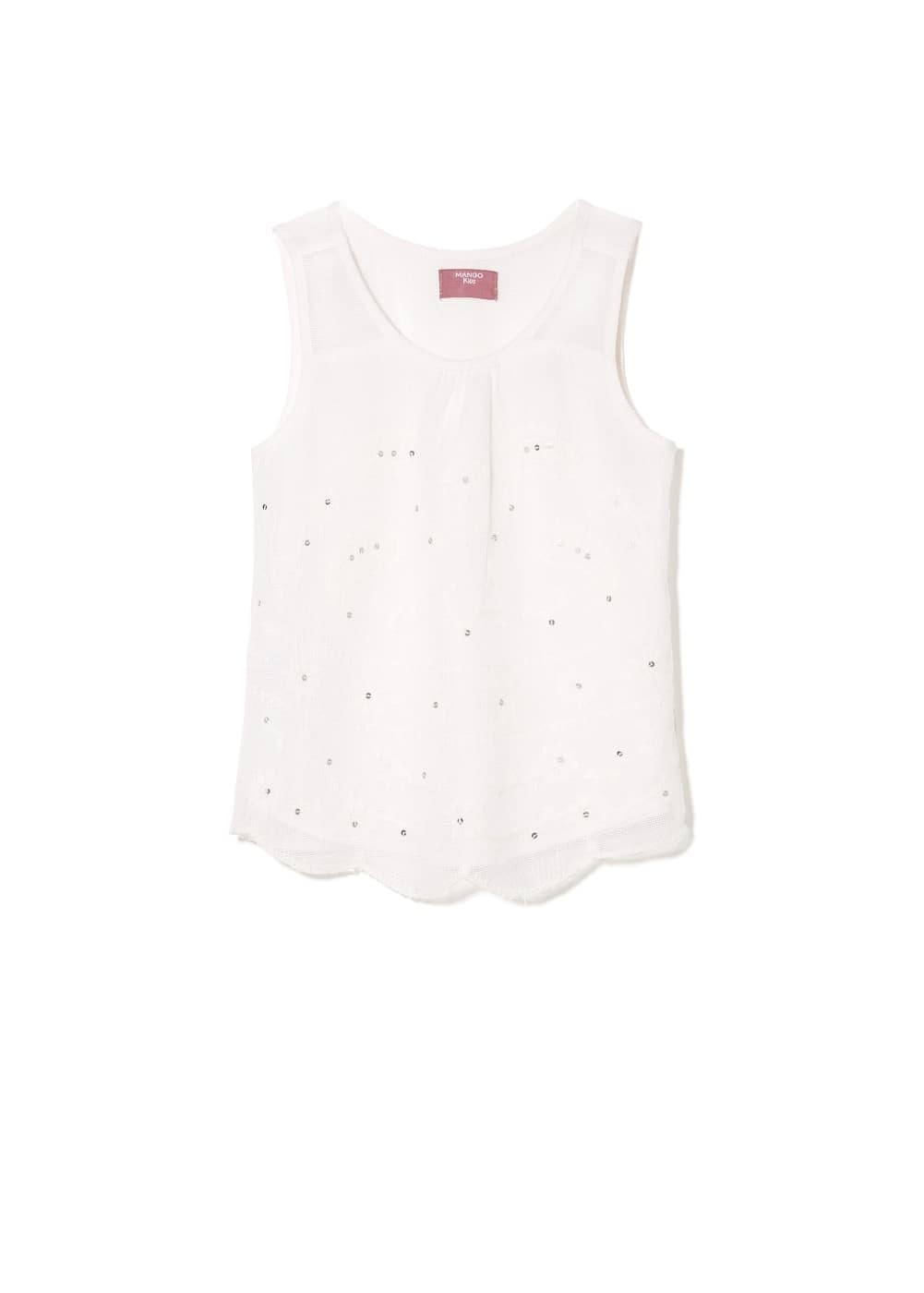 Sequin embroidered blouse | MANGO KIDS